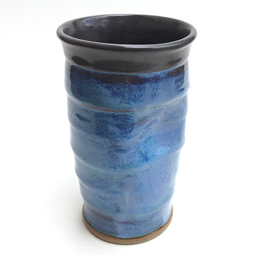 Tall Tumbler (Bright flowing blue and grey)