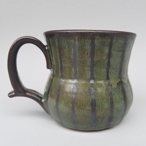 Mug with Stripes (bark and leaf)