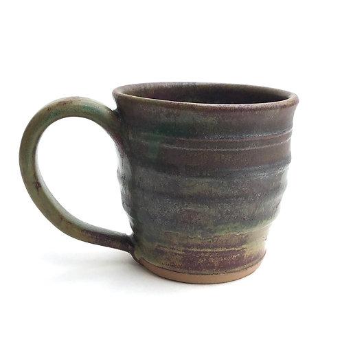 Mug (granite and rust with leaves)