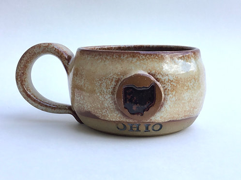 Ohio Mug (in cappucino cream glaze)