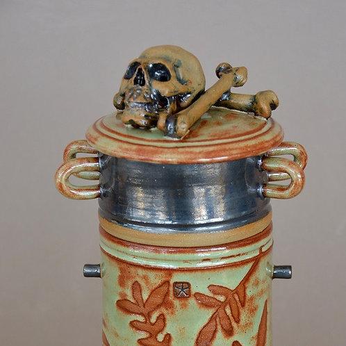Stacked Skull Vase