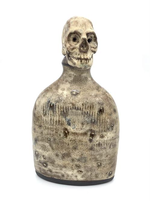 Black Skull Flask