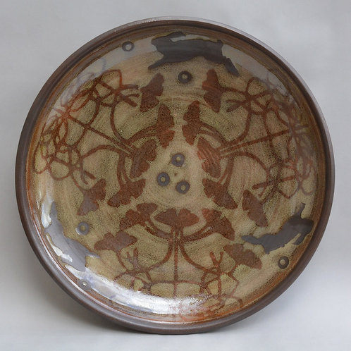 Plate with Rabbits and Ginkos