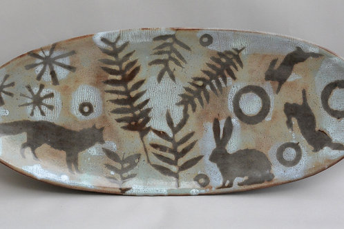 Fox and Rabbit Serving Tray (Made To Order)