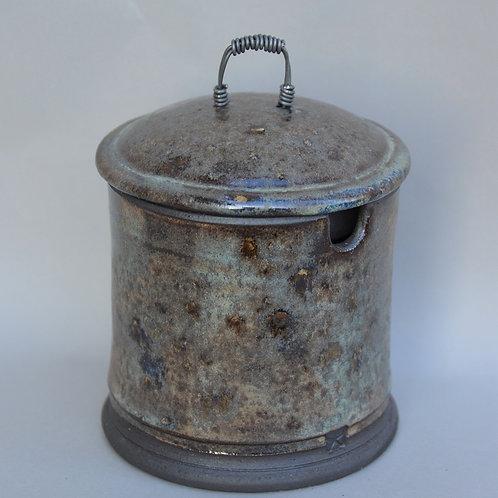 Black Covered Jar
