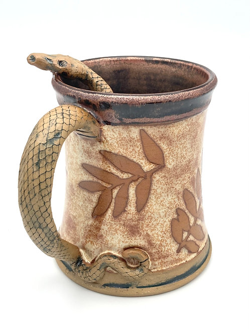 Snake Stein (coppery red and mottled cream)