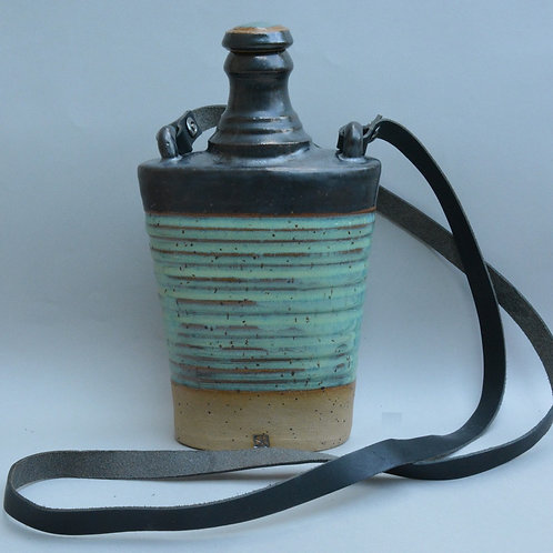 Friday Night Flask with Carrying Strap