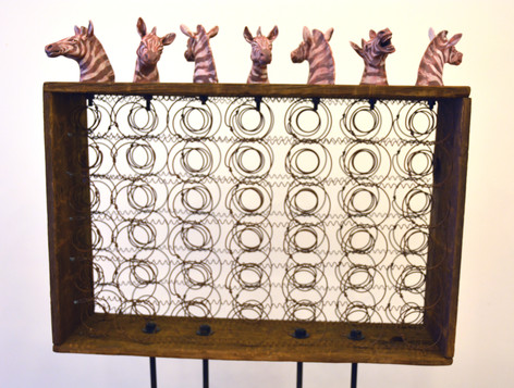 7 Zebras (Detail)