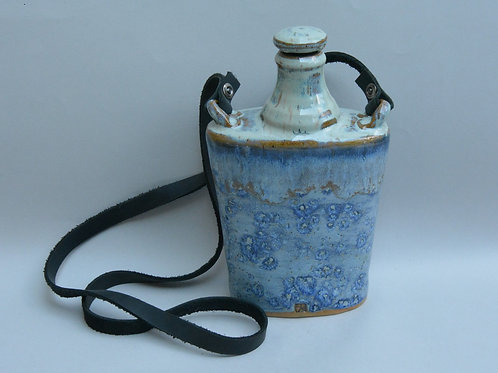 Salty Blue Flask with Carrying Strap