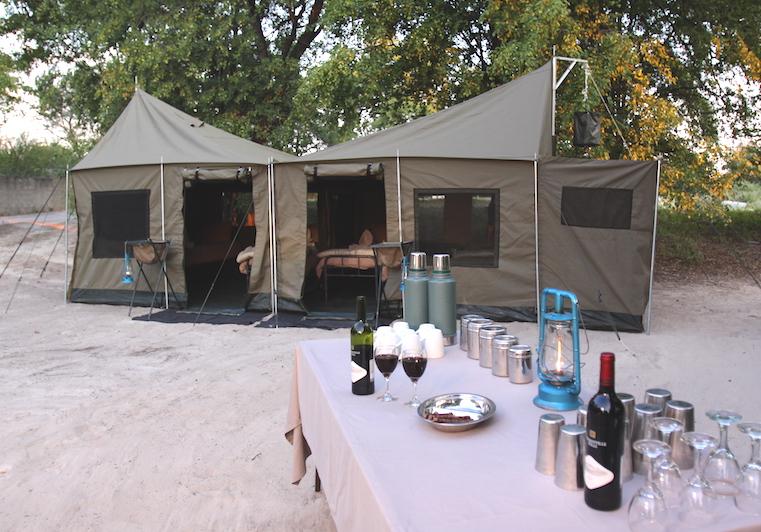 Boat safari family tent