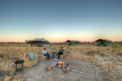 Pride of Africa camp sun downers