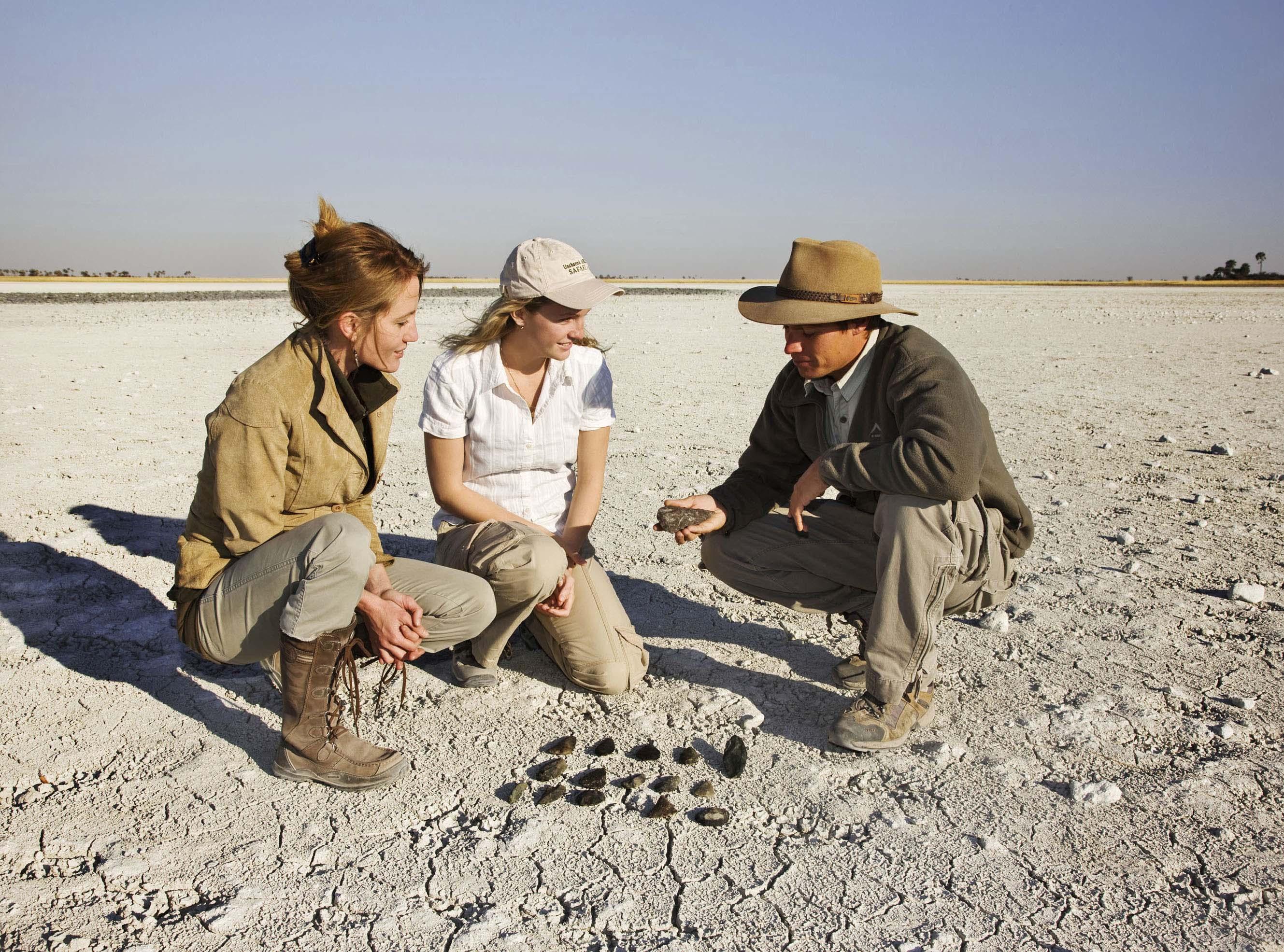 Stone tools in the Kalahari