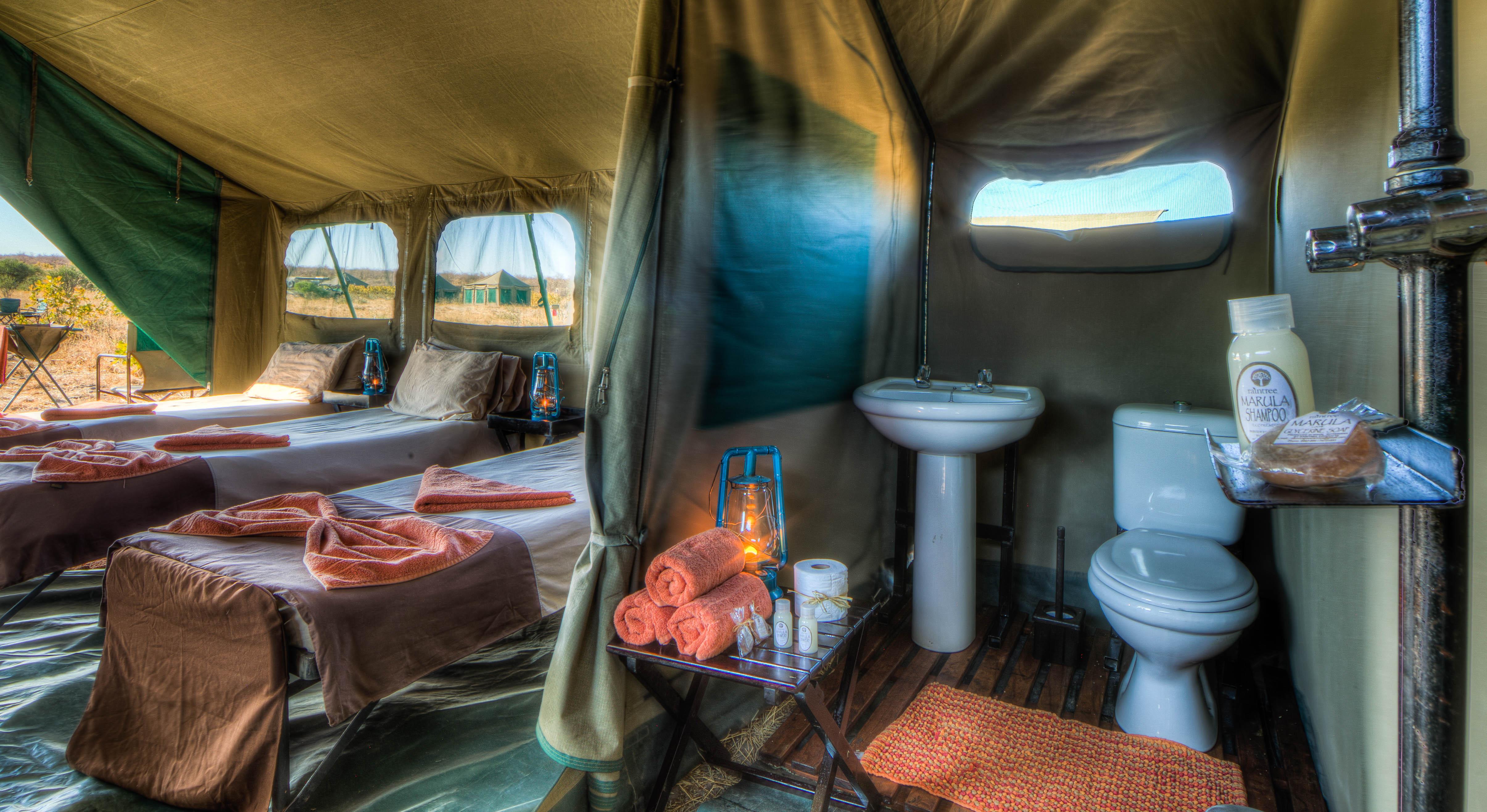 Triple tent incentive set-up