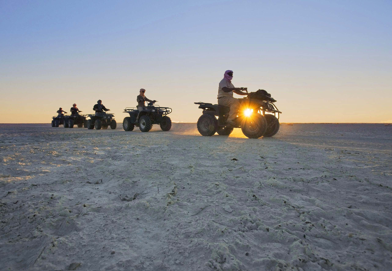Quad biking in the Kalahari