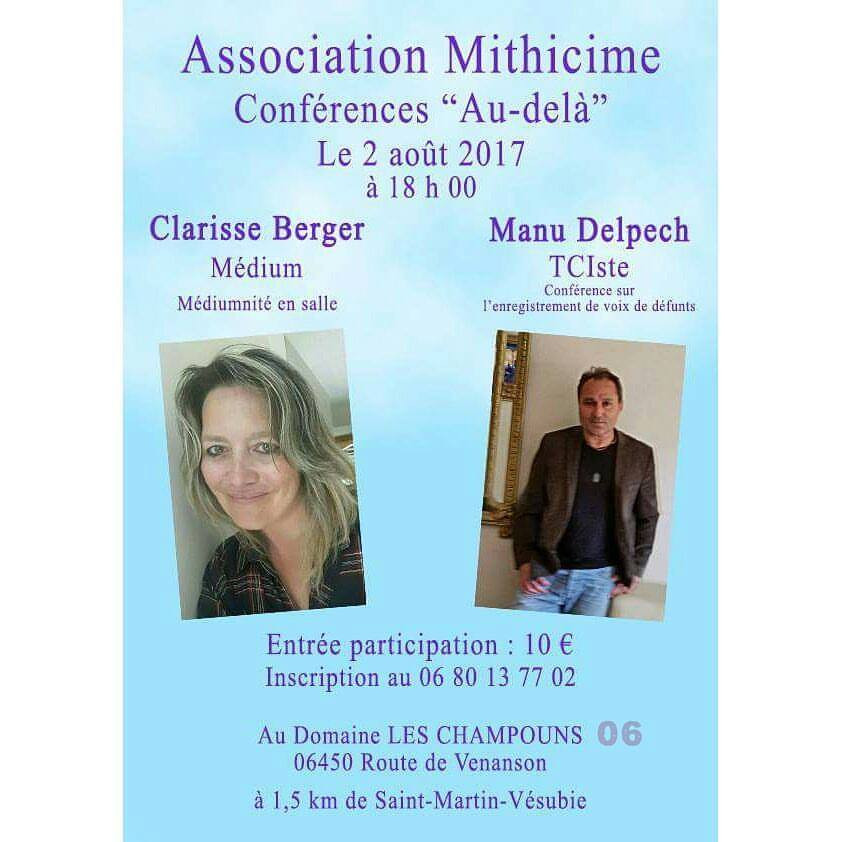 """Conférence """"Au-delà"""" avec Clarisse Berger 2017"""