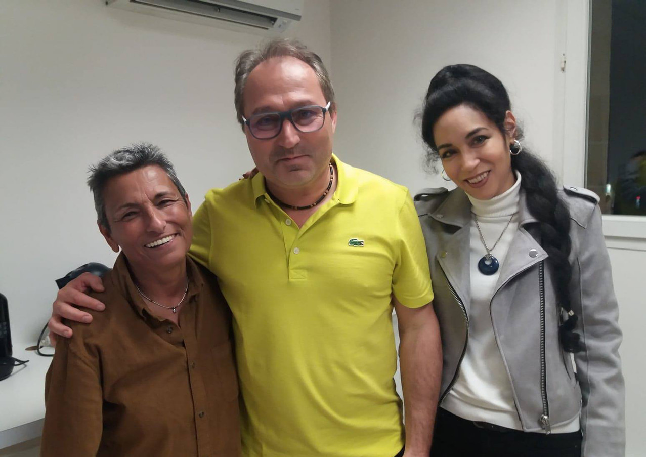 Louisa Mercier, Manu Delpech et Lisa Béranger