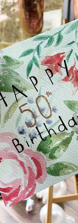 Commissioned 50th Birthday Card