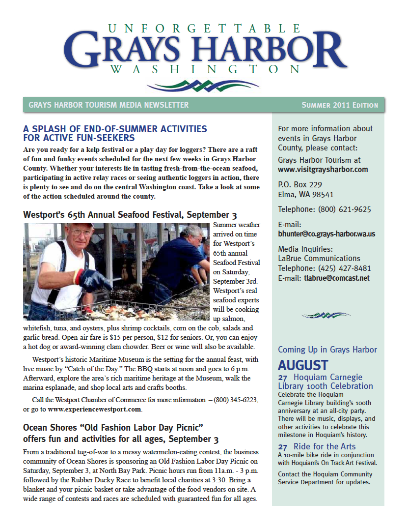 Grays Harbor Newsletter