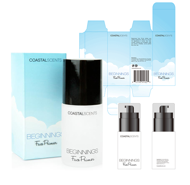 Coastal Scents package design