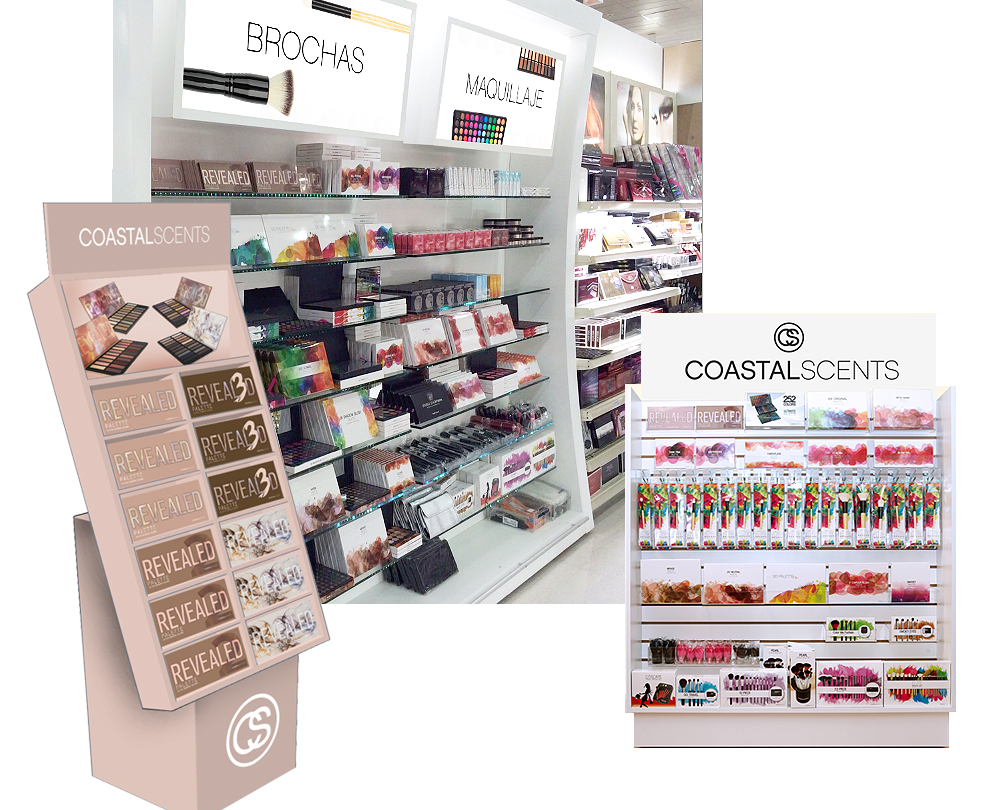 Coastal Scents retail displays