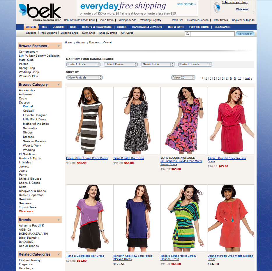 Belk.com, E-Commerce