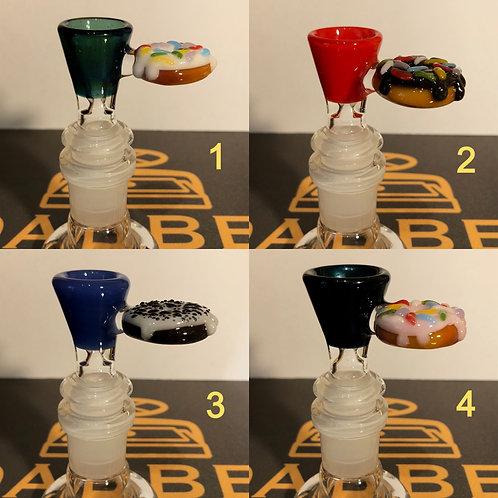 Donut 14mm Bowls by Jam Bear Glass