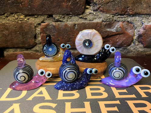 Snail Pendants by Browski Glass