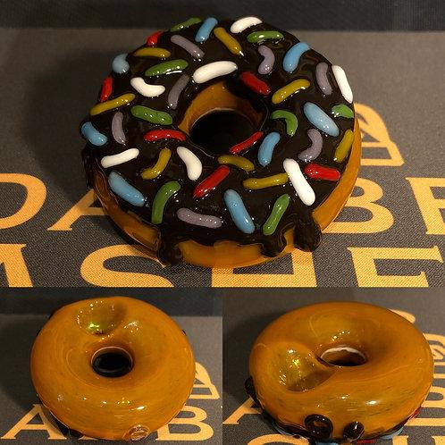 Donut Dry Pipe by Jam Bear Glass