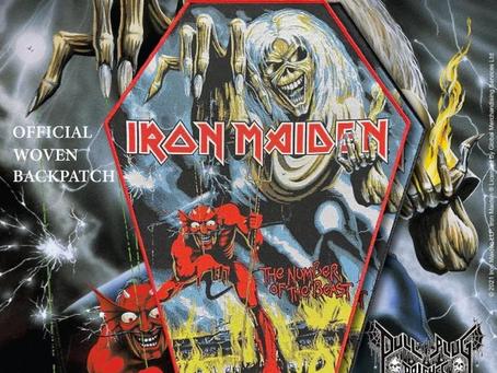 Iron Maiden ryggpatcher på vei
