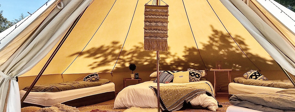 Tunes on the Sands [6m Bell Tent] (up to 6 persons)