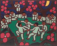 이만익, 숲속의 아이들, 130x162cm, 2003.jpg