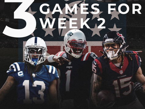 Top 3 Games for Week 2