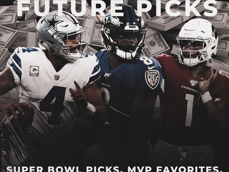 NFL Gambling Future Picks: Super Bowl picks, MVP favorites, Rookie of the Year and More.....