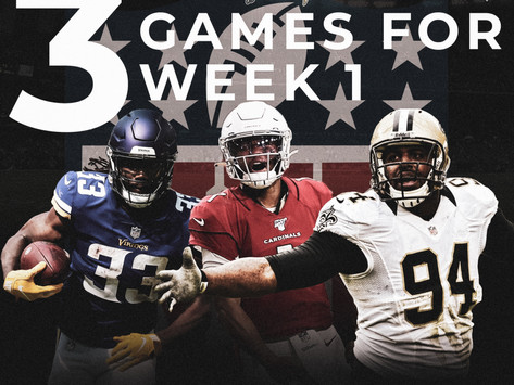 Top 3 NFL Games to watch for Week 1
