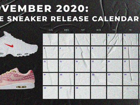 November 2020: Nike Sneaker Release Calendar