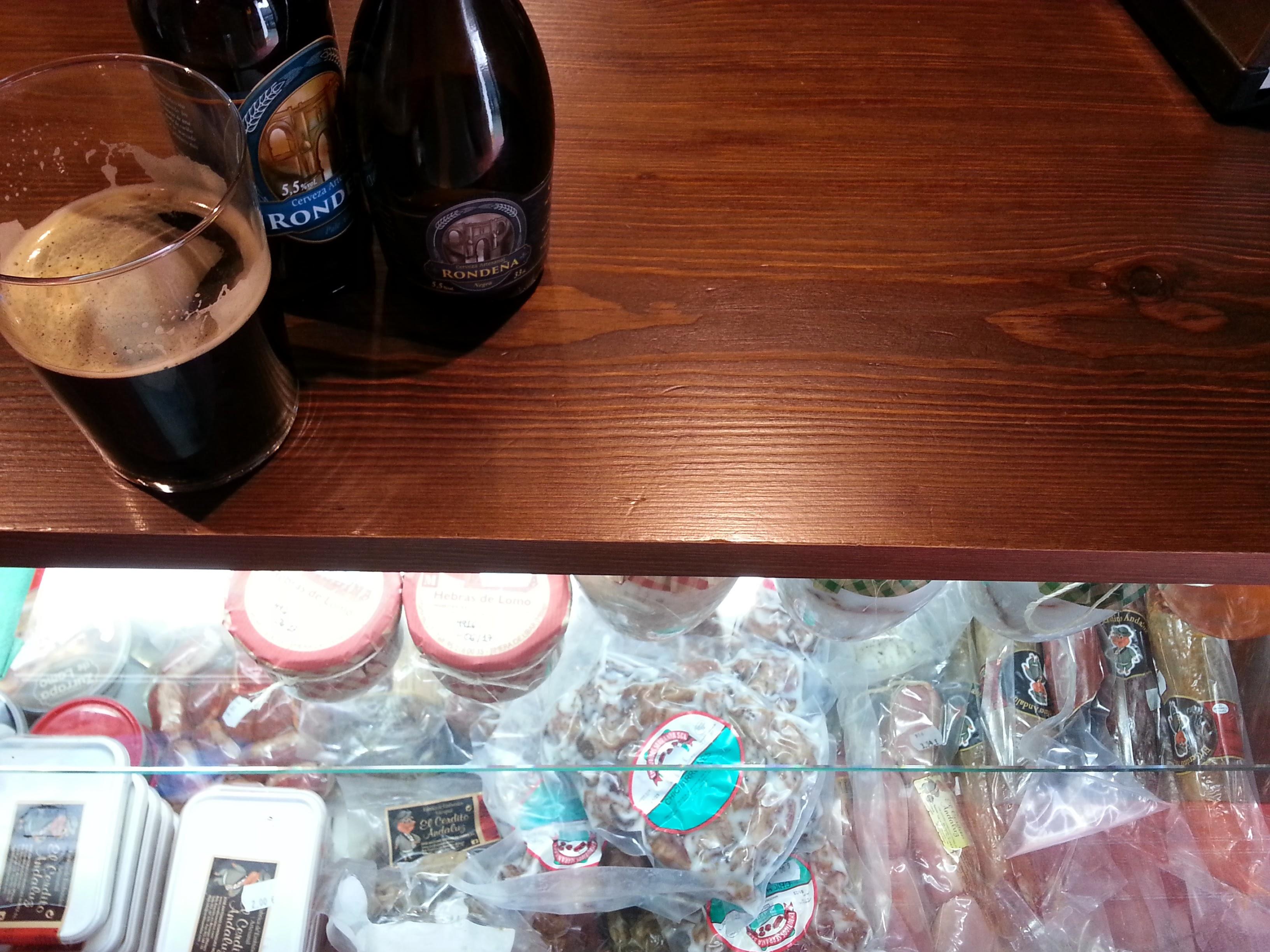 cervezas y chacina