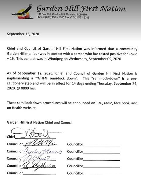September 12, 2020 Semi Lockdown Documen