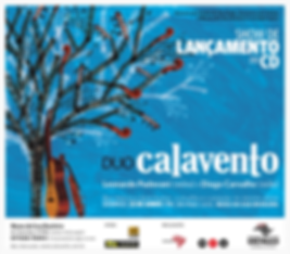 Flyer do show de lançamento do CD Duo Calavento