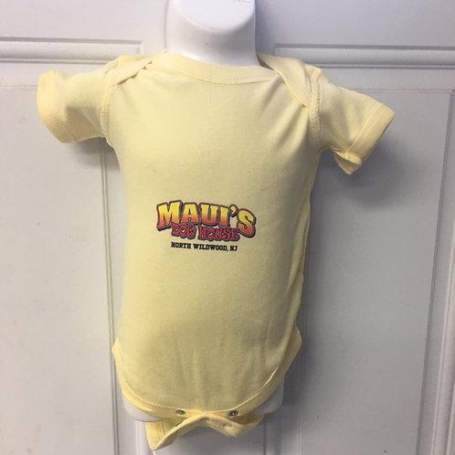 Infant Yellow Unisex Onesie Size 0-6 Months