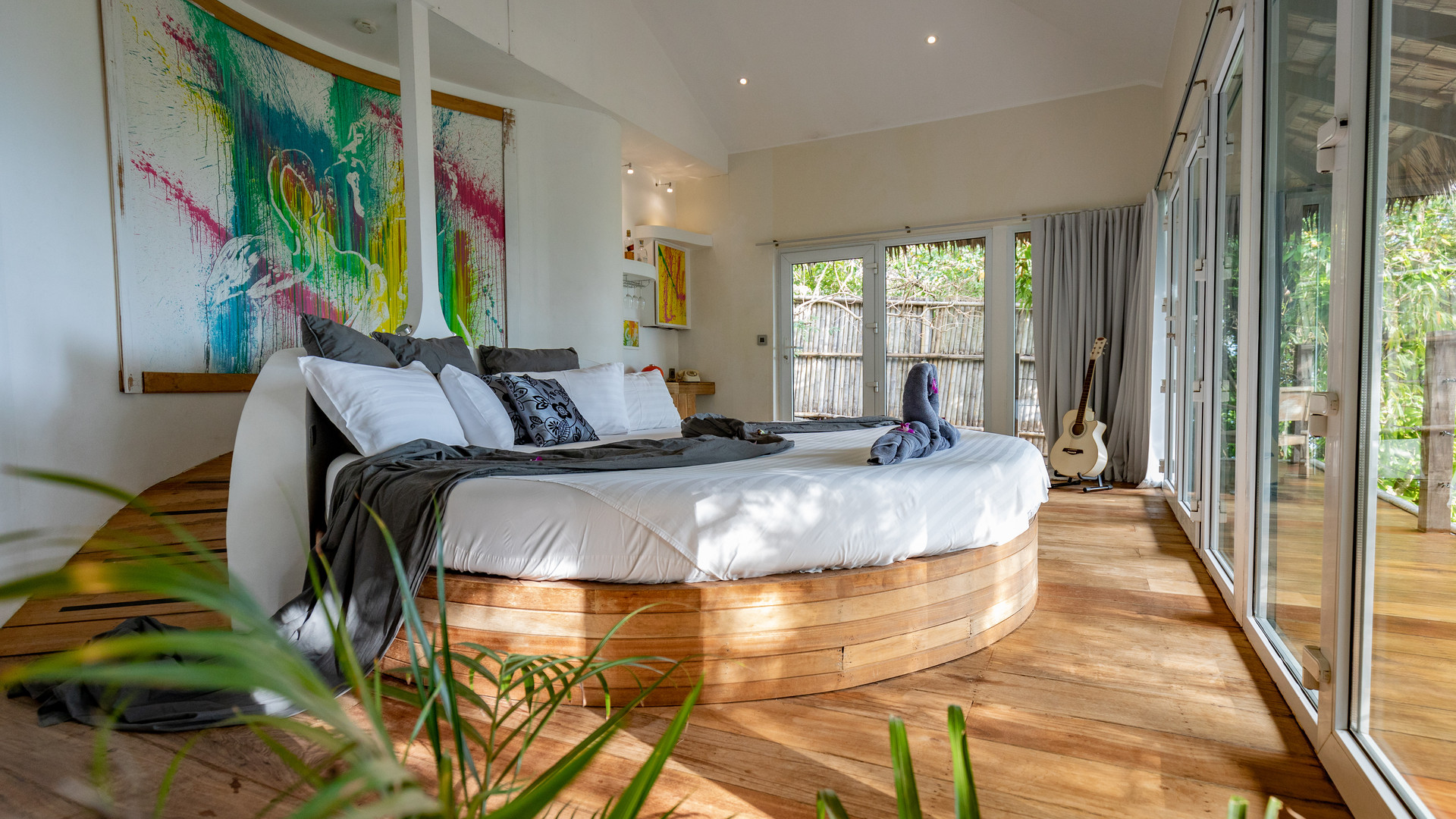 Overall view of the Hedonist Villa bedroom