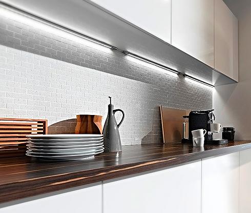 Диодная подсветка на кухне#ladodeja.ru