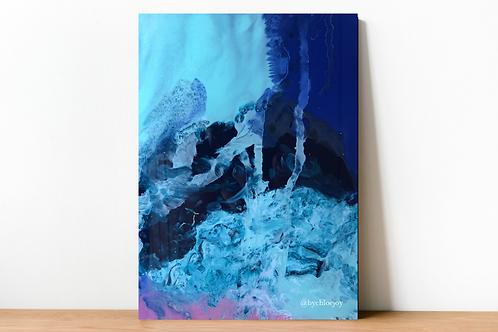 Blue Smoke Fine Art Print