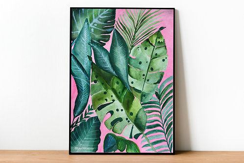 Watercolour Monstera Fine Art Print