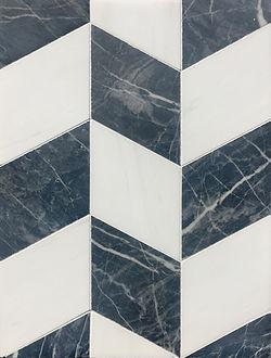 "Raven Black 4""x4"" Rhombus Tile"
