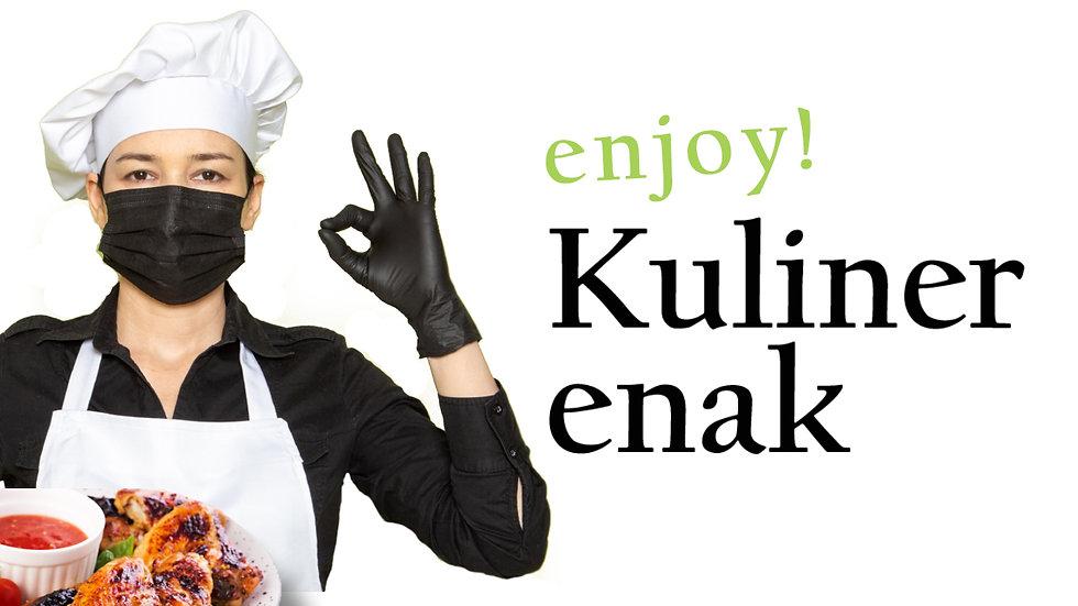 chef dengan masakan enak