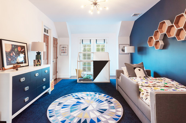 Curated Nest Interiors | NJ Country House - Jordan's Outer Space Room | Basking Ridge, NJ