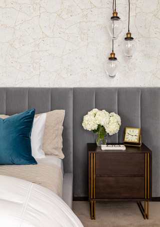 Rye NY Glam Master Bedroom 1