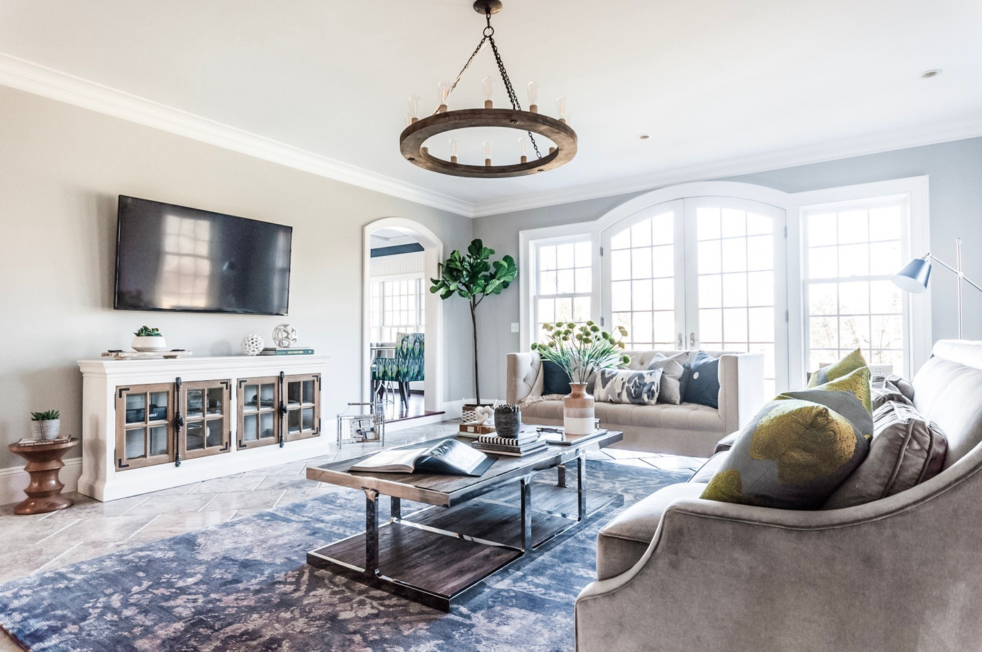 NJ Country House - Living Room