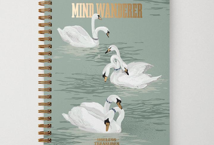 Mind Wanderer   Foil A5 Notebook