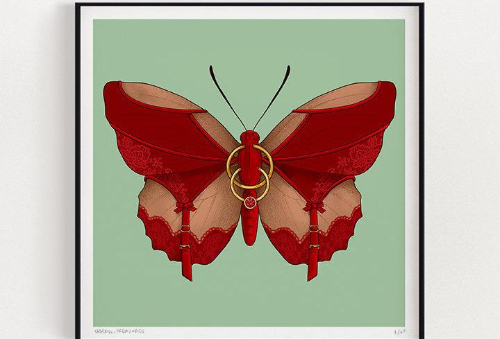 Red Lace  | Fine Art Print
